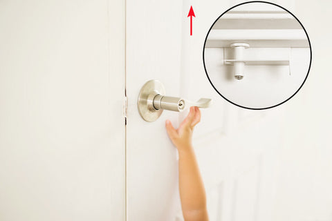 childproof door top lock