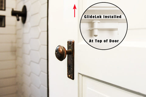 childproof deluxe door top lock