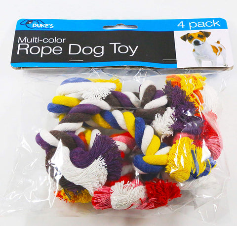 Duke's Multi-color Rope Dog Toy 4 Pck
