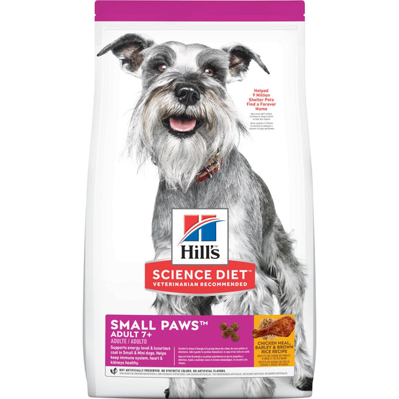 Hill's Science Diet-  Adult 7+ Small Paws chicken, barley & brown rice-4.5