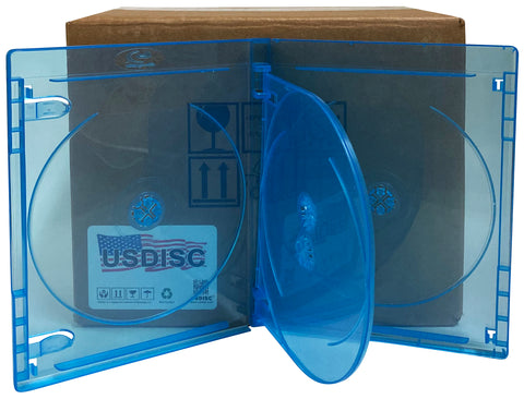 Double 2 Disc USDISC CD Jewel Cases Standard 10.4mm Clear Pack of 100