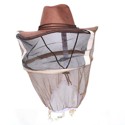 Cowboy Style Full Face Beekeeper Hat