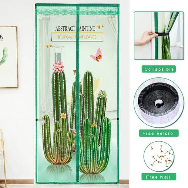 Magnetic Anti Insect Mesh Screen Curtains