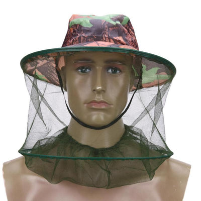 Forest Camo Protective Mesh Net Hat