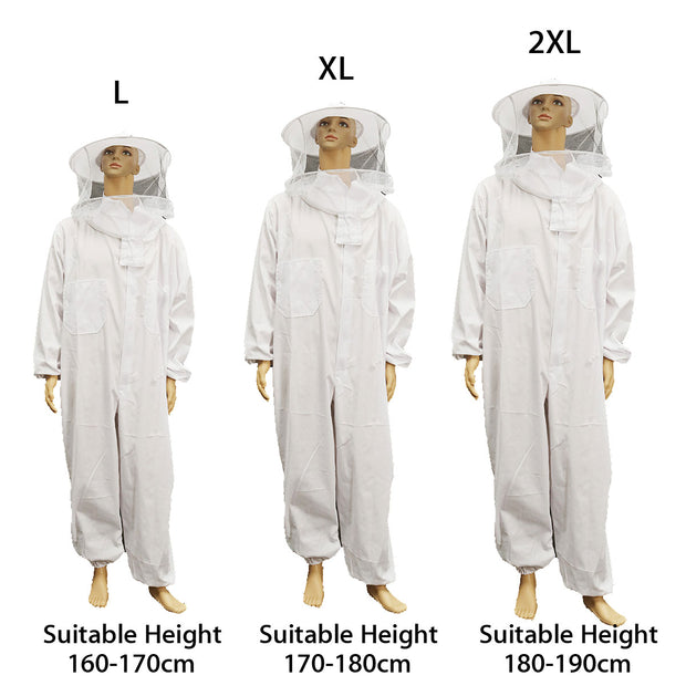 Beekeeping Protective Equipment Jacket Veil Professional Full Body Suit Hat Smock Beekeeping Tools Set Dress All Body Equipment L-XXL