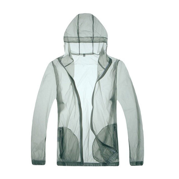 Translucent Ultra Lightweight Quick Dry Hooded Fishing Jacket