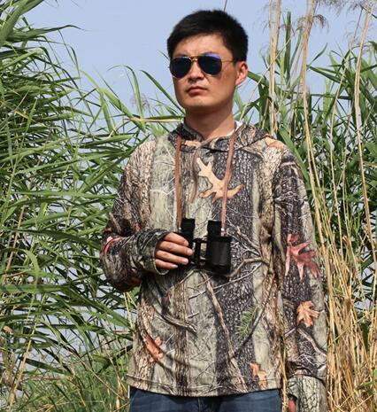 Outdoor Fishing Photography Animal Protection Bionic Camouflage Sunscreen Shirt Anti-Mosquito Hooded Quick-dry Breathable Coats