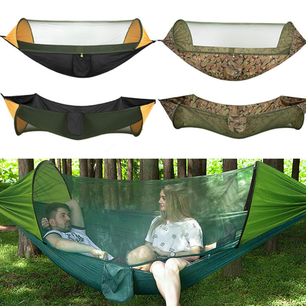 Indoor/Outdoor Swing Hammock Chair With Mosquito Net