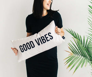Good Vibes Pillow Cover only