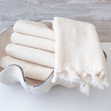 Load image into Gallery viewer, TURKISH TERRY HAND TOWEL - WHITE