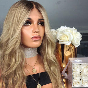 Youthful Fascinating Blonde Deep Wavy Wig