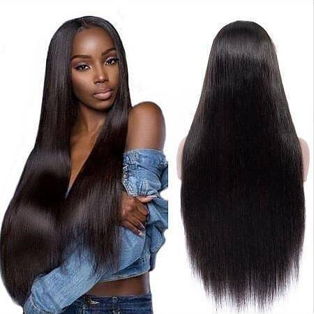 Gorgeous Black Straight Long Wig - satisionline