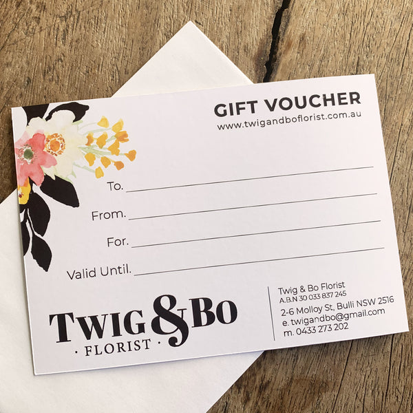 Twig & Bo // Gift Vouchers