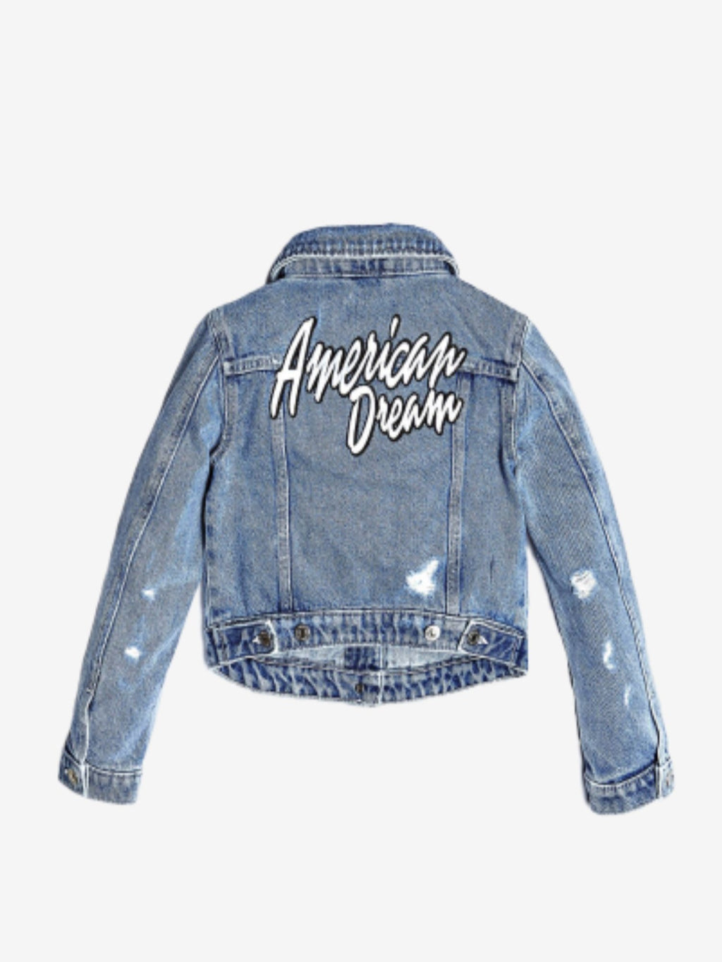 Embroidered Back Denim Jacket - MamaSmile