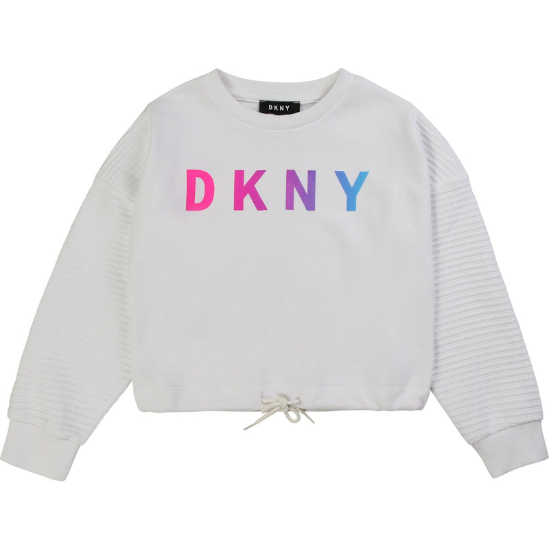 White Cropped Sweatshirt - MamaSmile