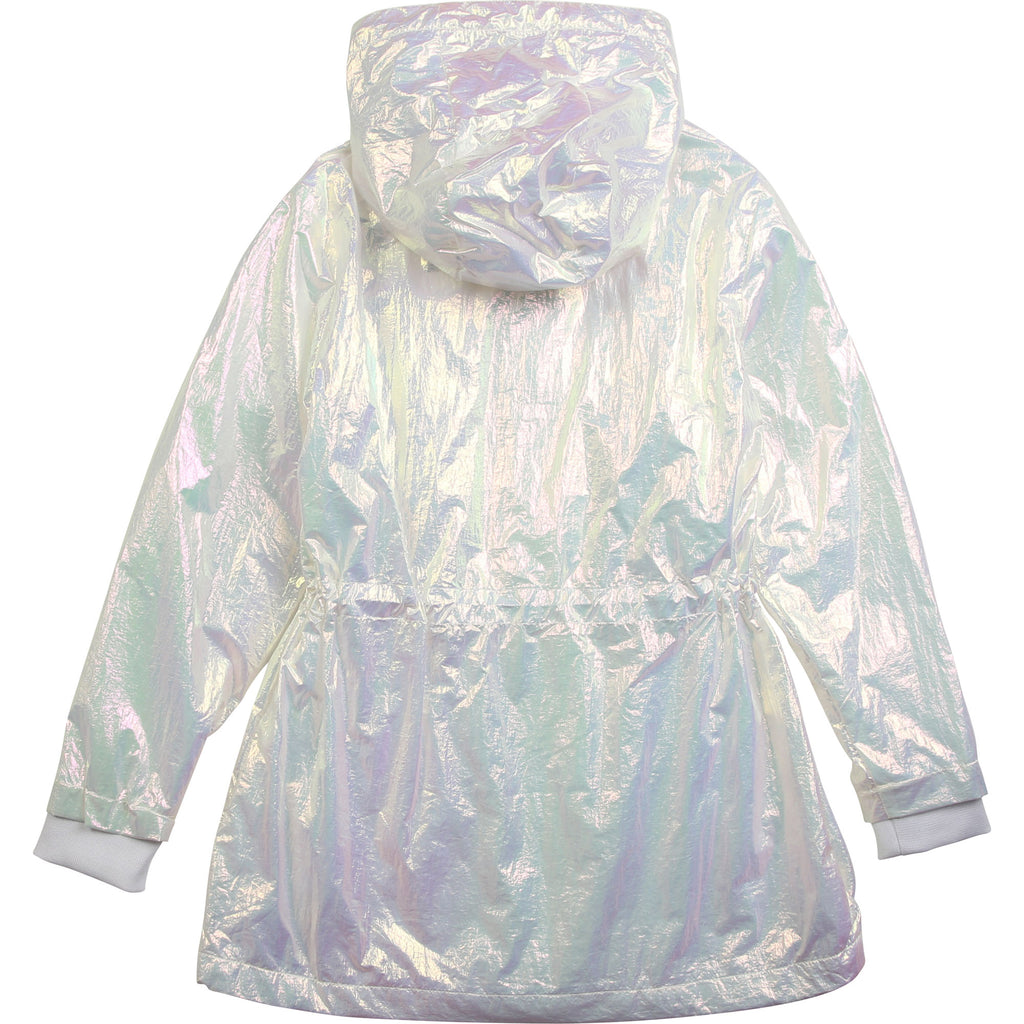 White Iridescent Coat - MamaSmile