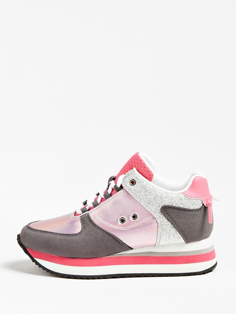 Lily Pink Plataform Trainers