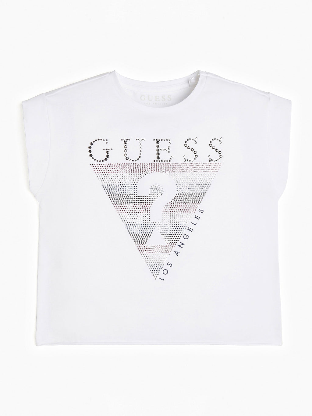 Cropped Sequins Logo T-shirt - MamaSmile