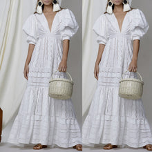 Load image into Gallery viewer, White Boho Dress