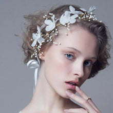 Load image into Gallery viewer, Romantic Metallic Leaves Headband