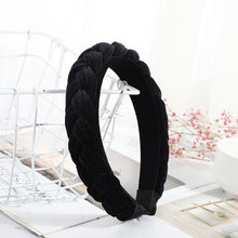 Load image into Gallery viewer, Small Velvet Braid Hairband