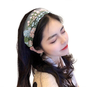 Fashion Lace Flower Embroidery Hairband