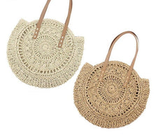 Load image into Gallery viewer, Rattan Round Bohemian Vacation Bag