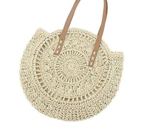Rattan Round Bohemian Vacation Bag