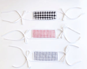12-pk Assorted Stripe and Seersucker Masks