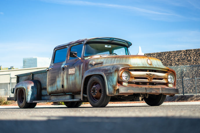 "1956 Ford F600 ""Rat Rod"" Faux Patina Paint Job (VIDEO)"