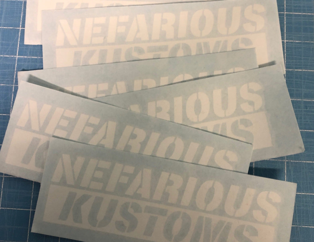 Nefarious Kustoms Decal