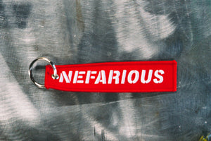 Nefarious Kustoms Flight Tag Keychain