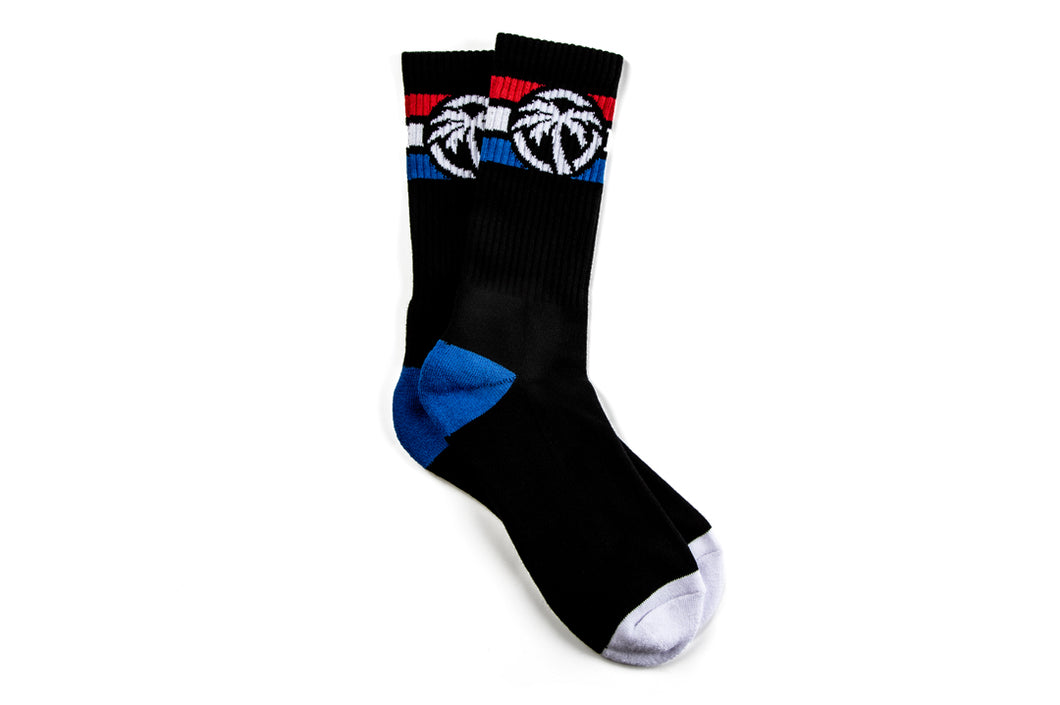 Heat Wave 4 Speed Socks Red White Blue