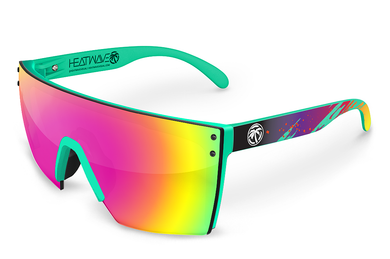 LAZER FACE: Teal Frame Aqua Splash Custom x Savage Spectrum