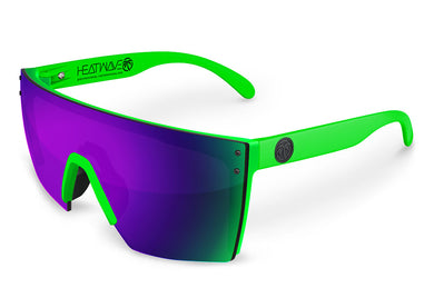 LAZER FACE: Neon Green Frame x Ultra Violet