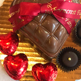 Chocolate Tufted Heart Box