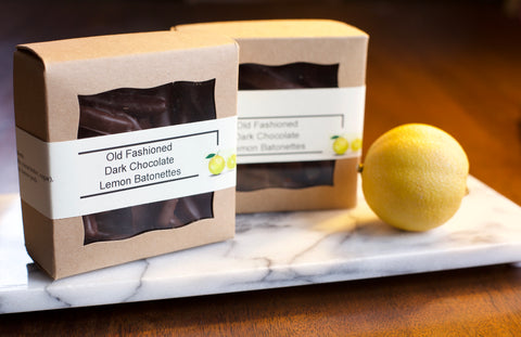 Old Fashioned Dark Chocolate Lemon Batonettes