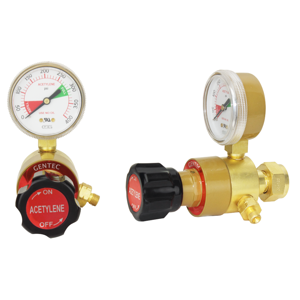 GENTEC 101Y-BA Industrial Gas Regulator (Acetylene)