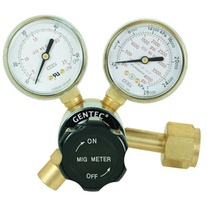 "GENTEC 190CD-45 Flow-Gauge Regulator, ""MIG Meter"", CO2 Service, CGA 320"