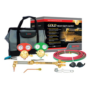 GENTEC 1131 Gold Series Commander II Oxy-Acetylene Heavy Duty Deluxe Outfit for Industrial & Commercial Applications
