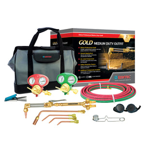 "GENTEC 1120 Gold Series ""Jobber"" Medium Duty Deluxe Outfit for Welding, Cutting & Heating"