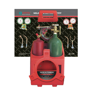 GENTEC KCMA16TCSP Oxy-Acetylene Anti-Theft Packaging Compact Torch Kit with Cylinders for Soldering and Brazing