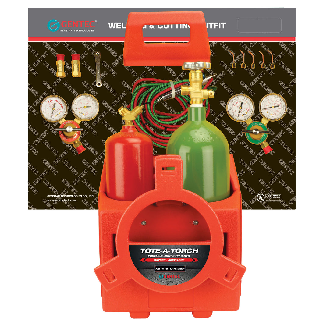 GENTEC KSTA16TC-H12SP Oxy-Acetylene & Oxy Fuel Anti-Theft Packaging Kits with Cylinders