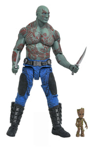 MARVEL SELECT GOTG 2 DRAX & BABY GROOT FIGURES