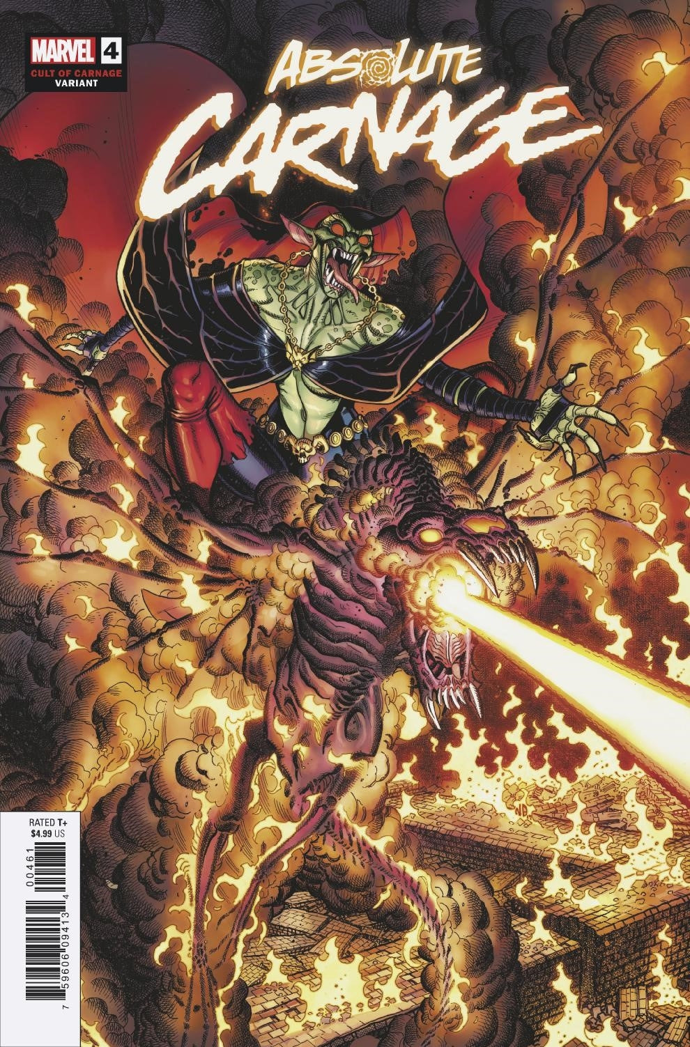 ABSOLUTE CARNAGE #4 (OF 5) BRADSHAW CULT OF CARNAGE VAR