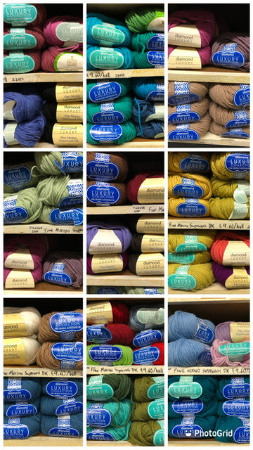 diamond luxury collection fine merino superwash dk colours in stock at Romni Wools 658 Queen Street West
