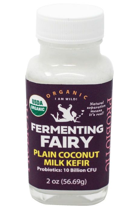 Shot of PLAIN Coconut Milk Kefir