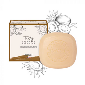 Tasty Coco - Savon 100g - Adopt savon - Maquillage, Parfums, Vernis, Rouge a levres, Ongles, Homme, Femme, Jolie, Belle, Beaute, beauty, High Class, Top prices, Top Quality, France, Maurice