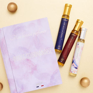Coffret 3 parfums Douce gourmandise - Adopt Noël - Maquillage, Parfums, Vernis, Rouge a levres, Ongles, Homme, Femme, Jolie, Belle, Beaute, beauty, High Class, Top prices, Top Quality, Franc