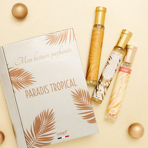 Coffret 3 parfums Paradis tropical - Adopt Noël - Maquillage, Parfums, Vernis, Rouge a levres, Ongles, Homme, Femme, Jolie, Belle, Beaute, beauty, High Class, Top prices, Top Quality, France